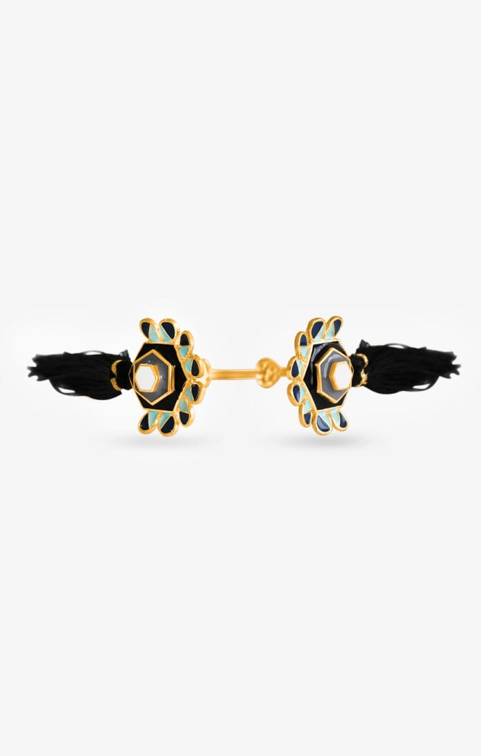 Blaq Bloom Tassel Cuff