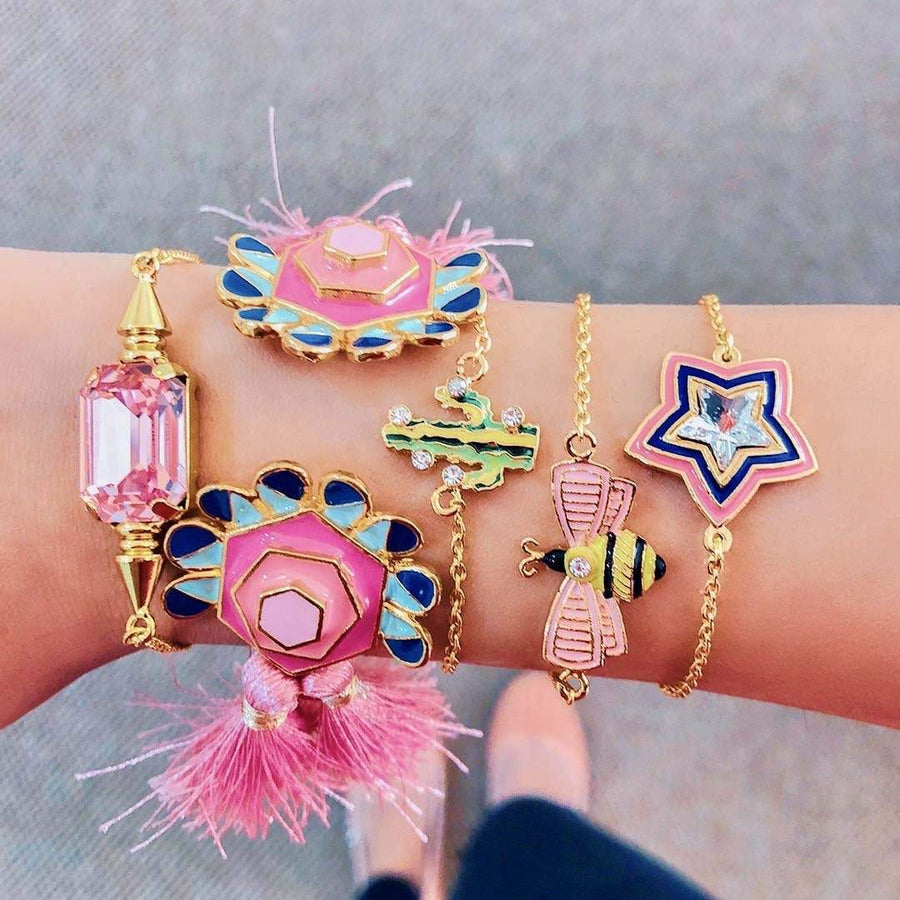 Bloom Tassel Cuff - Bracelet