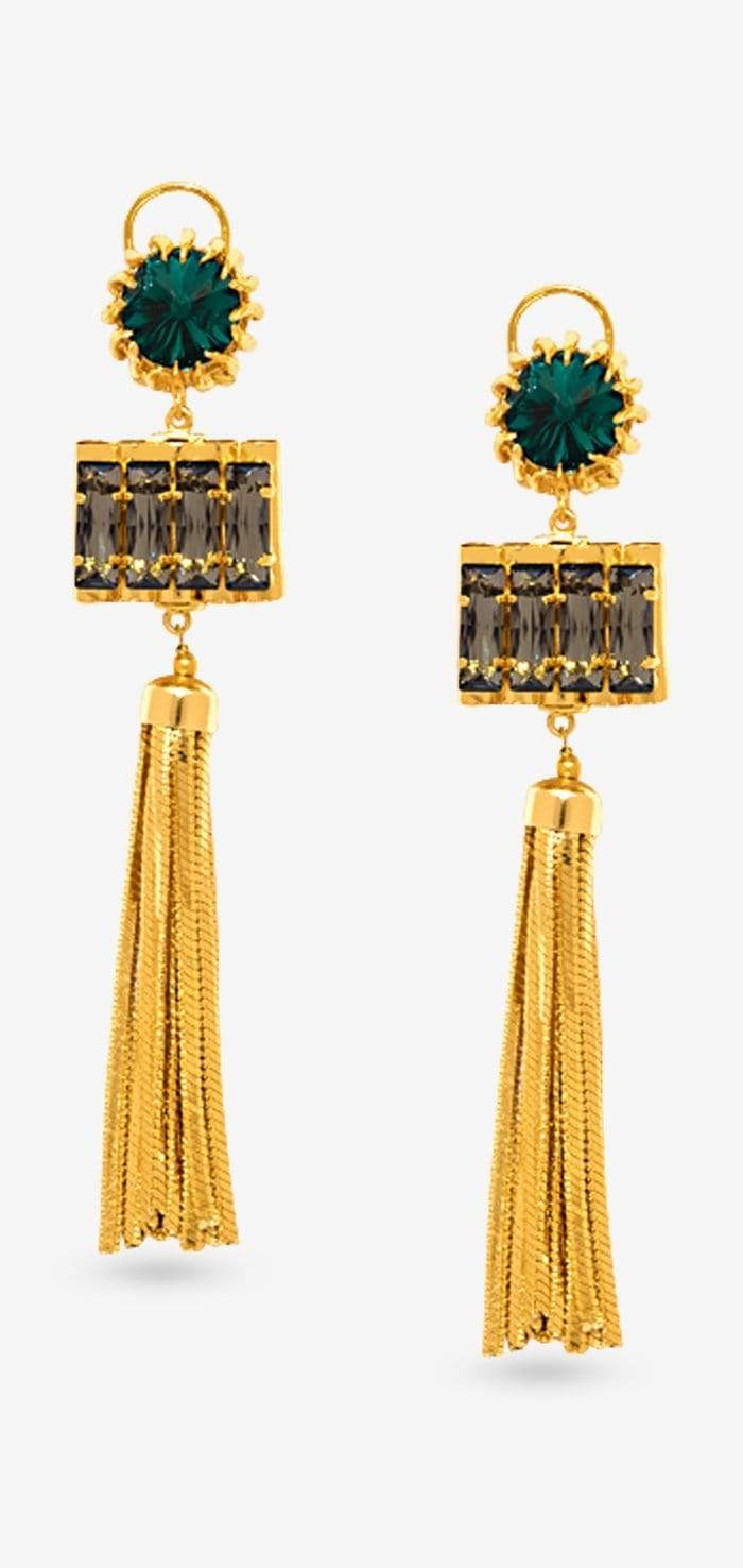 Calyx Tassel - Earrings