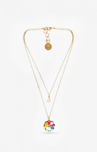 Fleur Multi Colour Necklace Charm