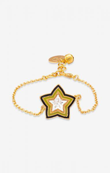 Green Acuben Star Charm