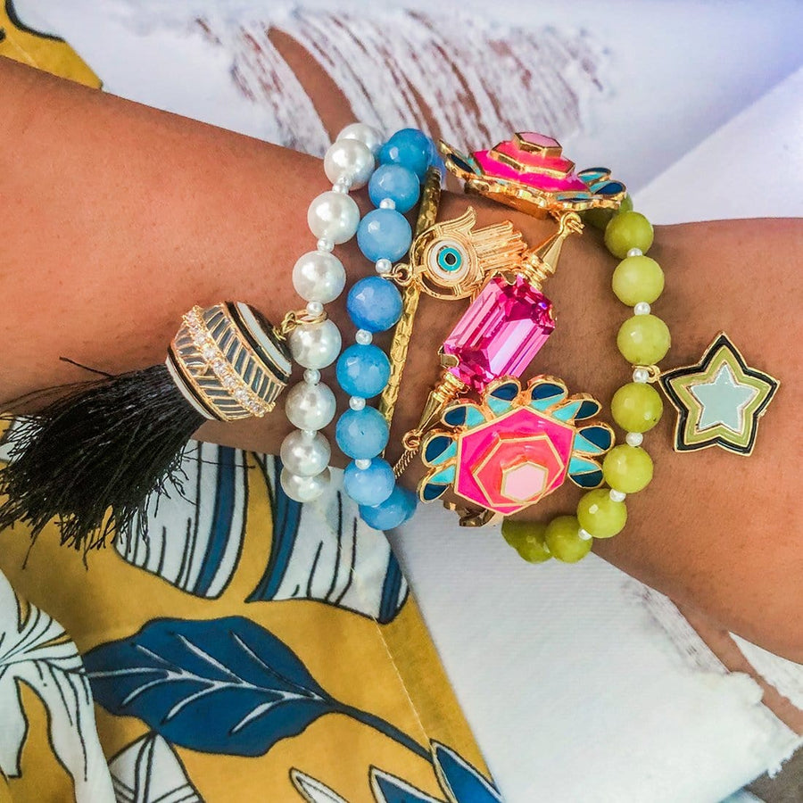 Hamsa Evil Eye Beaded Bracelet