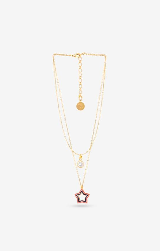 Pink Acuben Star Necklace - Charm