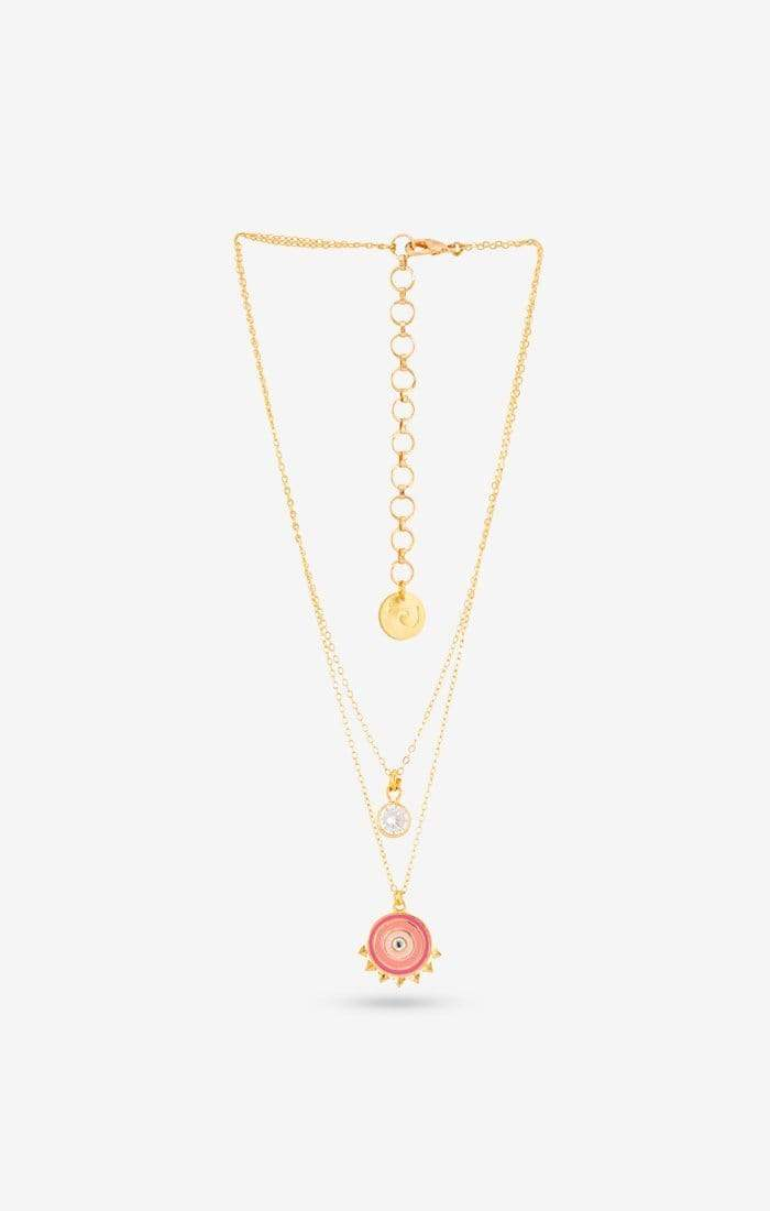 Pink Soleil Necklace - Charm