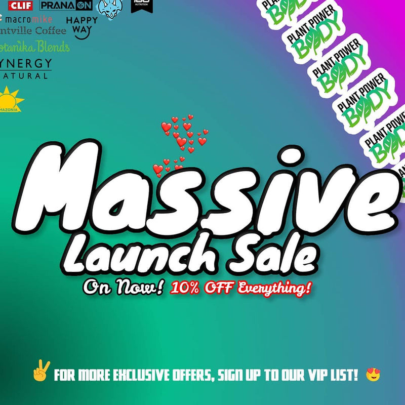 Massive 10% off everything launch sale
