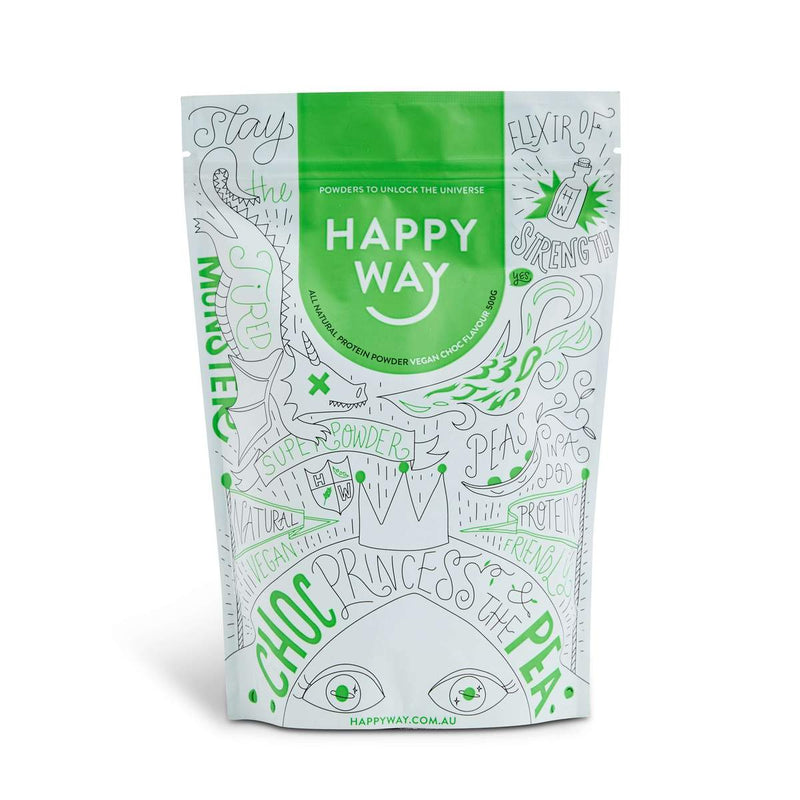Pea Protein Powder Chocolate 500g by Happy Way