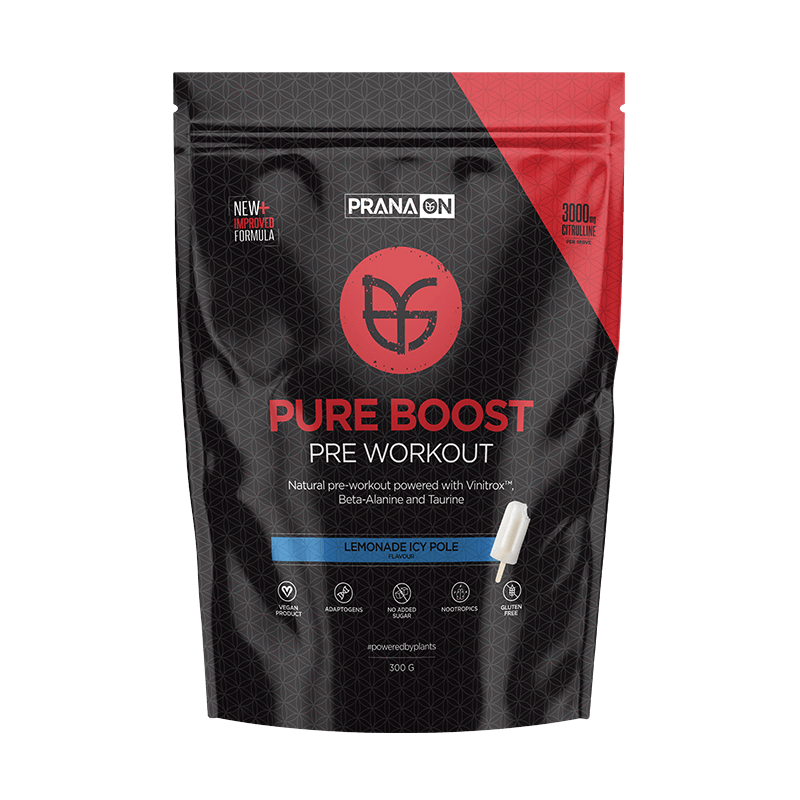 Pure Boost Pre Workout - Lemonade 300g by PranaOn