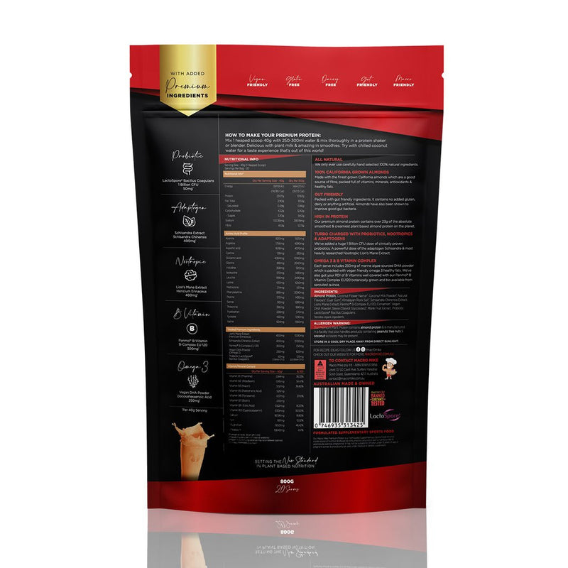 NEW! Salted Caramel - Premium Almond Protein Powder by Macro Mike 400g/800g