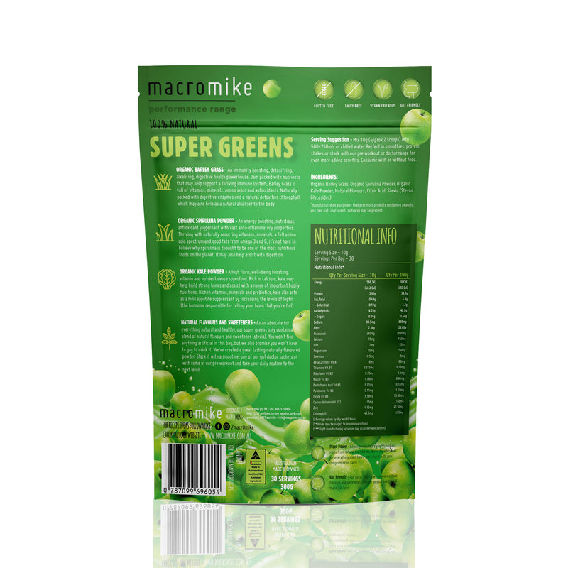All Natural Super Greens - Apple Flavour by Macro Mike