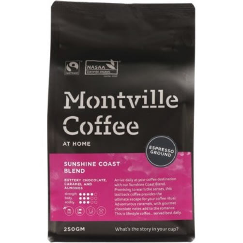 Coffee Ground (Espresso) Sunshine Coast Blend 250g