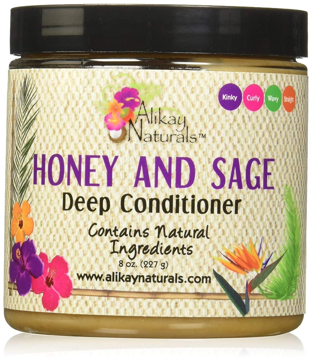 Alikay Naturals Honey and Sage Deep Conditioner - 8oz - Beauty & Organic Co.