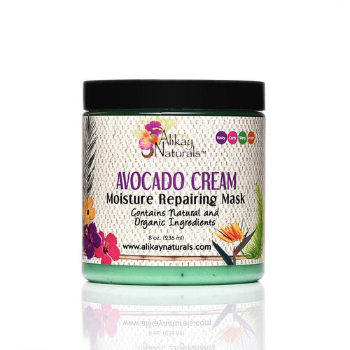 Alikay Naturals Avocado Cream Moisture Repairing Hair Mask - 8oz - Beauty & Organic Co.