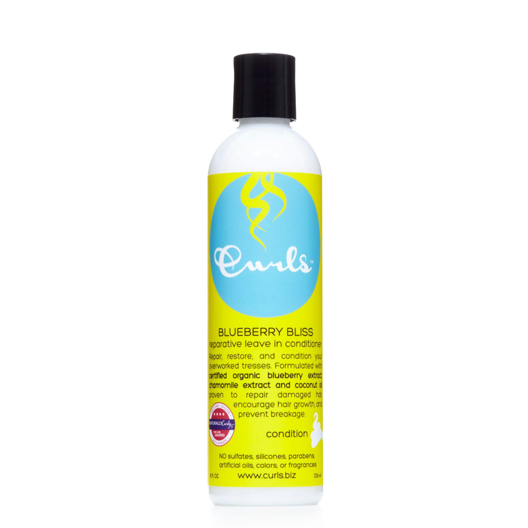 Curls Blueberry Bliss Reparative Leave In Conditioner - 8 fl oz - Beauty & Organic Co.