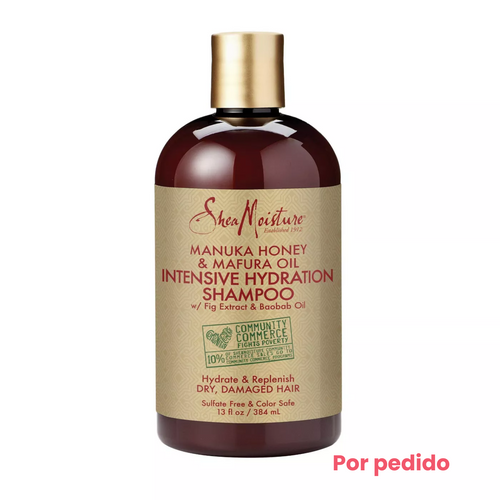 SheaMoisture Manuka Honey & Mafura Oil Intensive Hydration Champú- 13 fl oz - Beauty & Organic Co.
