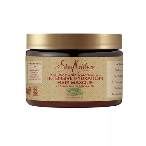 SheaMoisture Manuka Honey & Mafura Oil Intensive Hydration Tratamiento- 12oz - Beauty & Organic Co.
