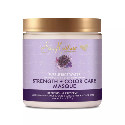 SheaMoisture Strength + Color Care Treatment Masque with Purple Rice Water - 8oz - Beauty & Organic Co.