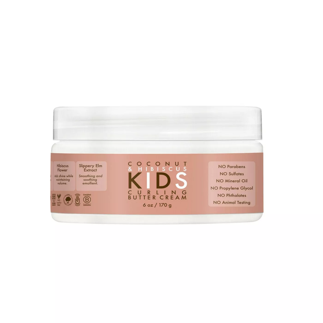 SheaMoisture Coconut & Hibiscus Kids Crema Rizadora - 6oz - Beauty & Organic Co.