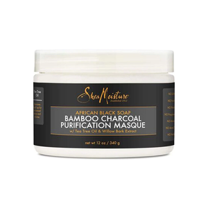SheaMoisture African Black Soap Bamboo Charcoal Purification Masque - 12oz - Beauty & Organic Co.