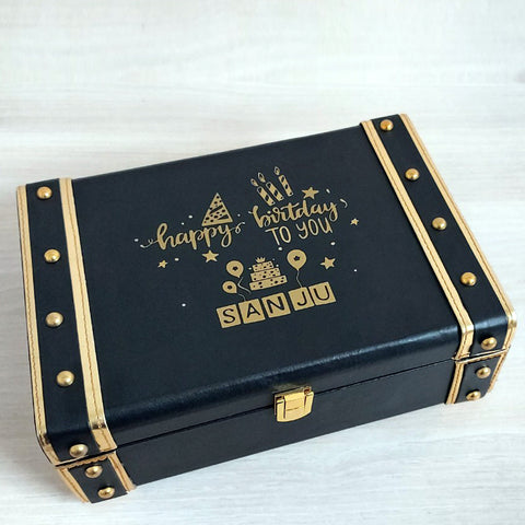 Leatherette Trunk - Black