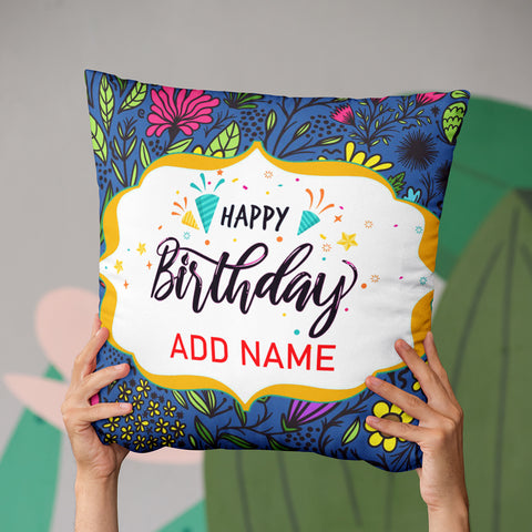 Name Birthday Cushion