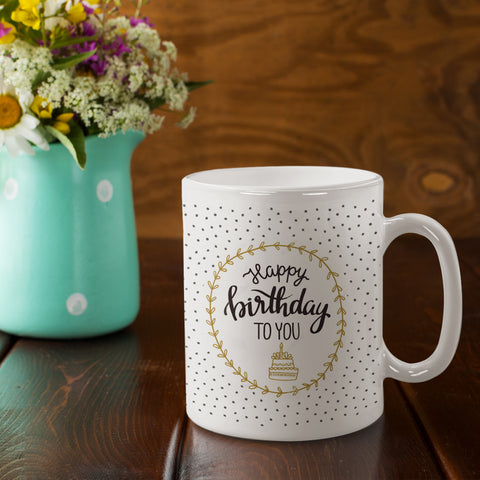 Polka Dots Birthday Mug