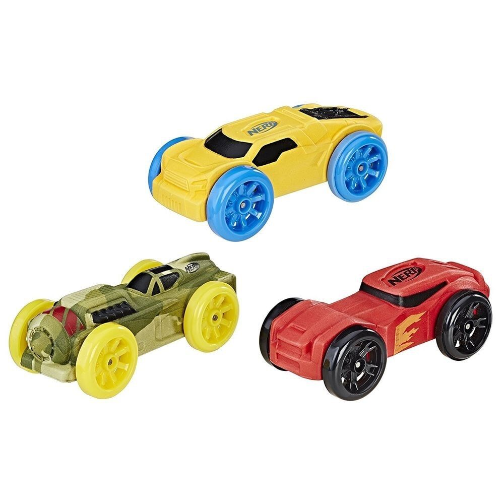 Nerf Nitro Foam Car (Pack of 3, Styles May Vary)