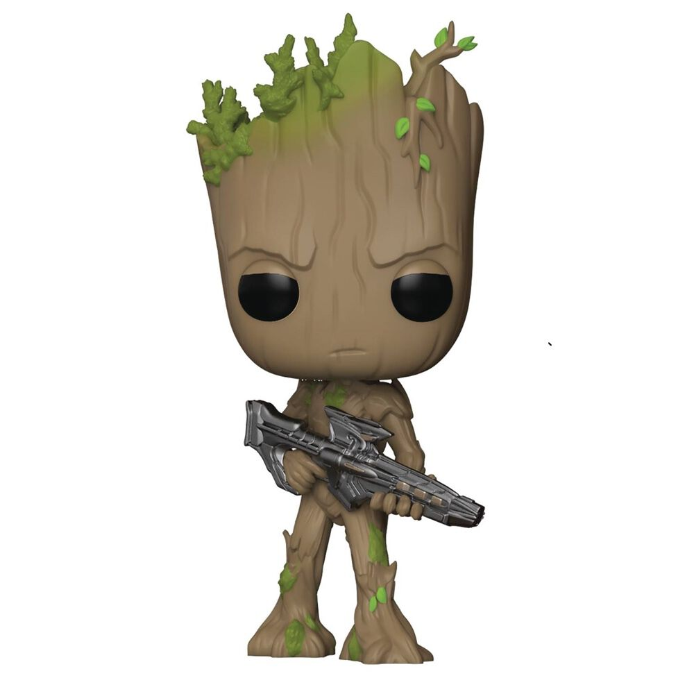 Pop Groot Bobble-head Figure with Blaster