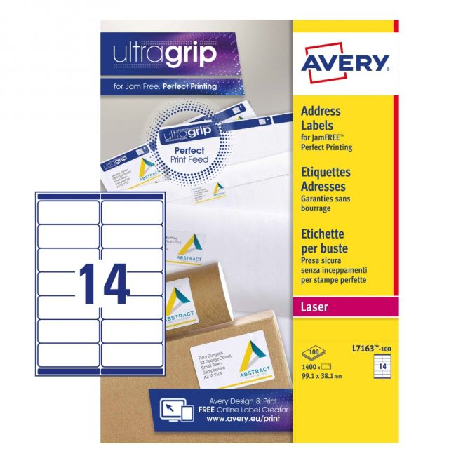 Address Labels L7163-100 With Ultragrip And Quickp