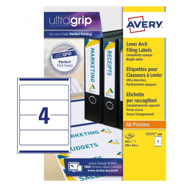 Filing Labels L7171-100 With Ultragrip Technology,