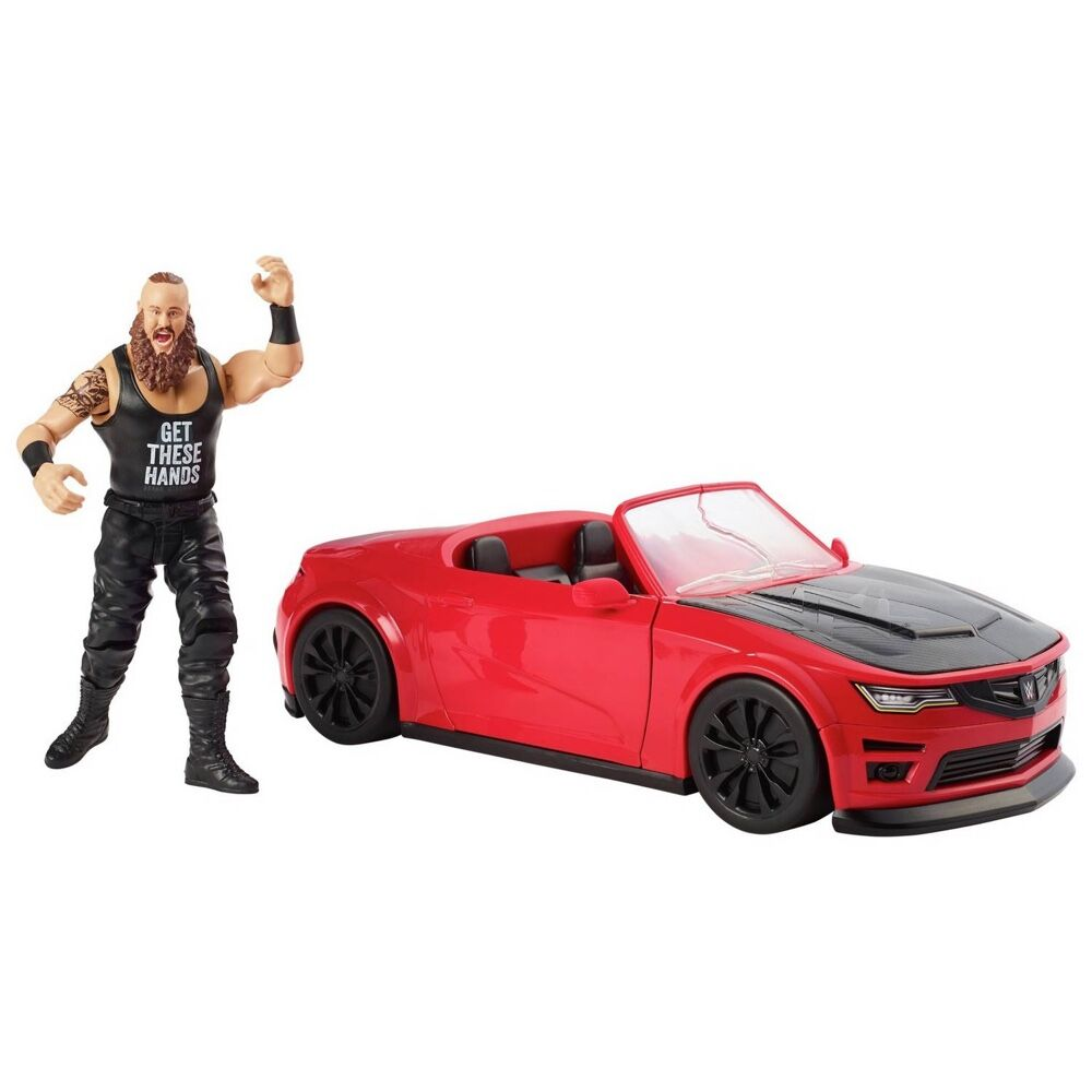 Wrekkin' Slam Mobile Car + Braun Strowman Action Figure (Colors May Vary)