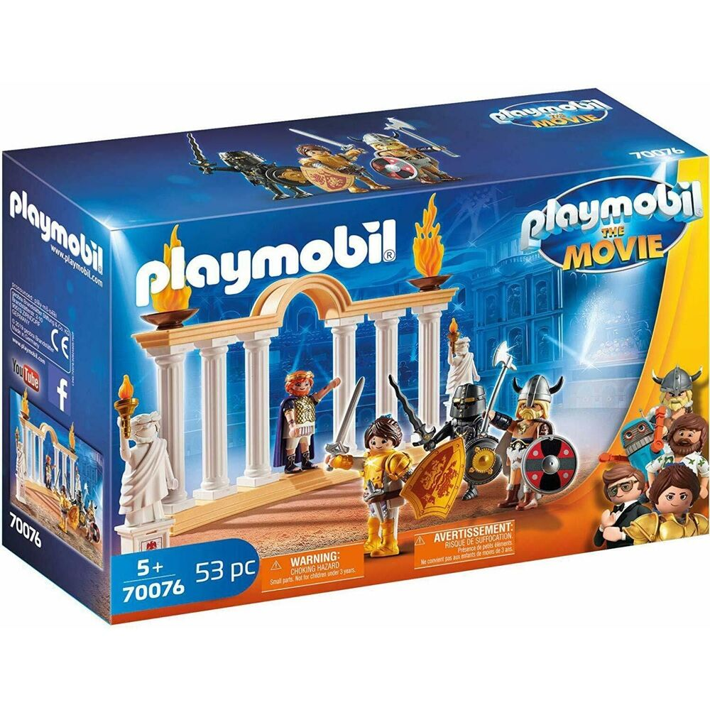 Playmobil The Movie Emperor Maximus in the Colosseum (53 Pieces)