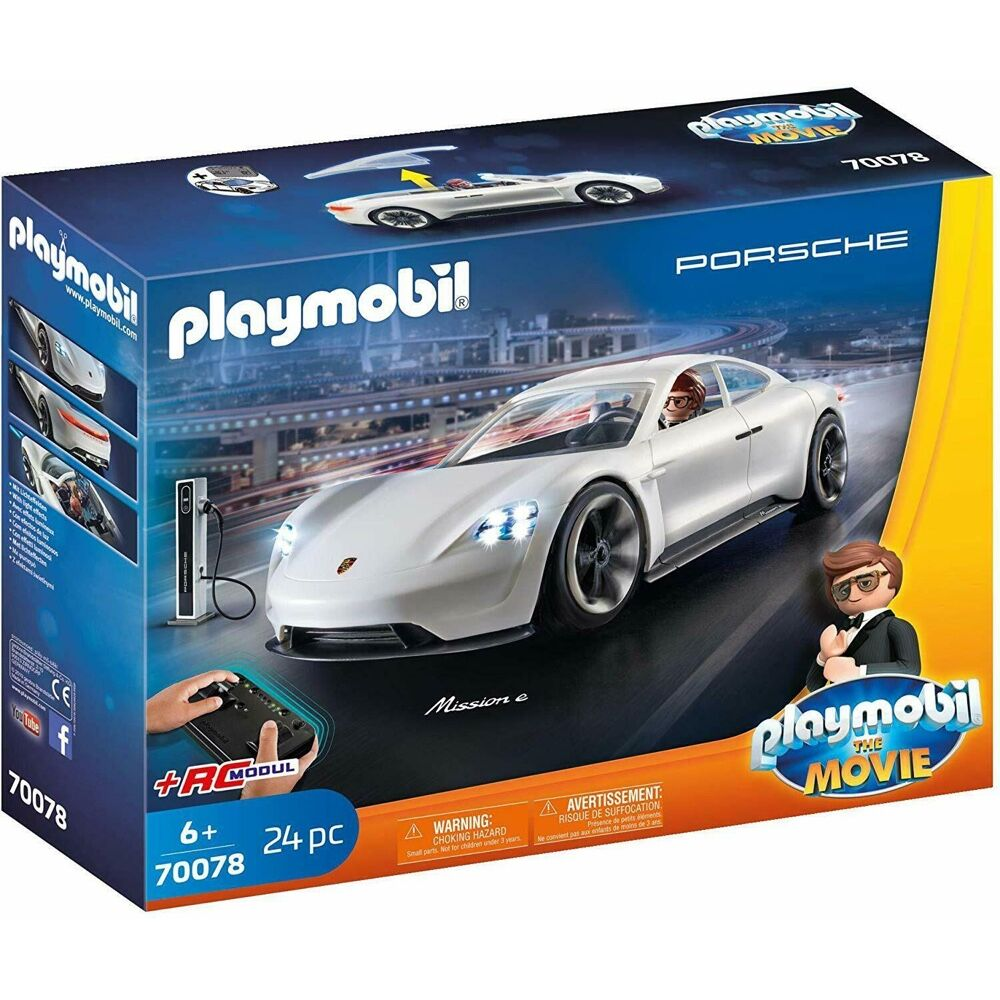 Playmobil The Movie Rex Dasher's RC Porsche Mission E (24 Pieces)