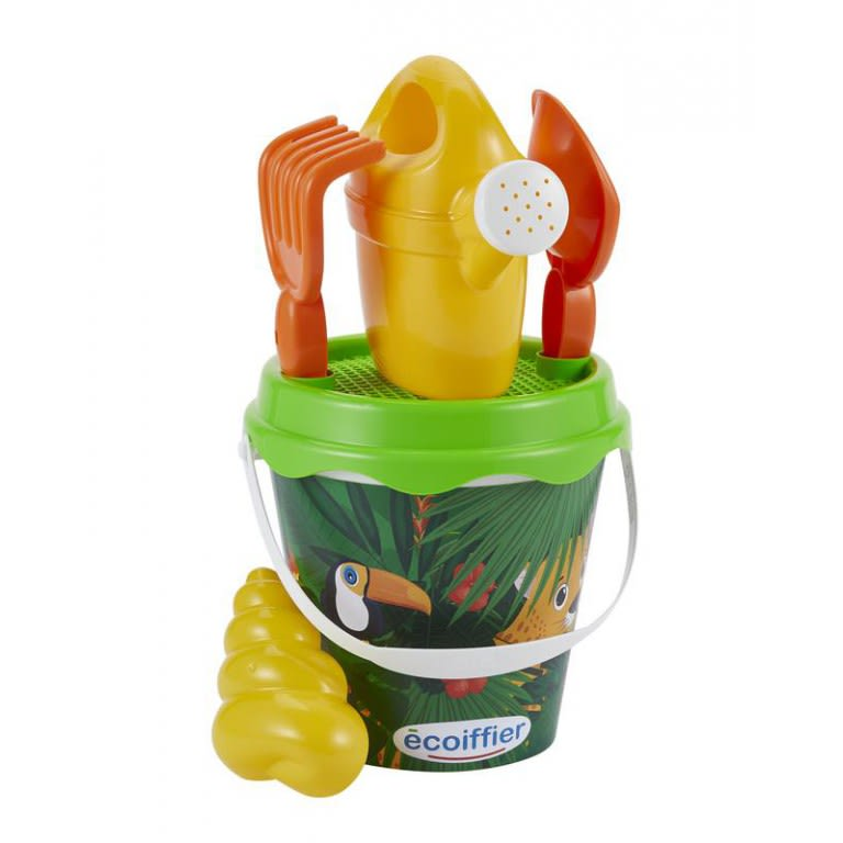 Ecoiffier Beach Jungle Bucket with Accessories