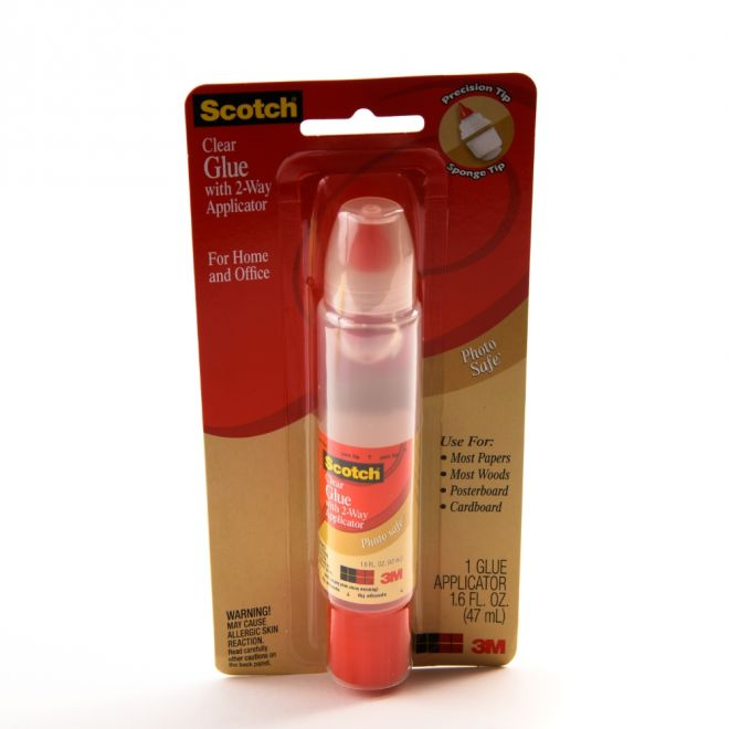 3M 6050 Scotch Clear Glue With 2Way Applicator, 47