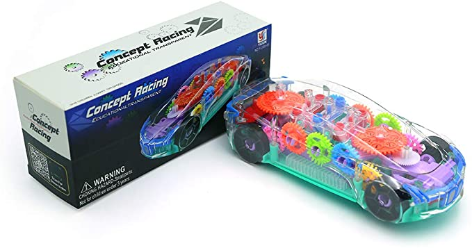 Battery Operated Transparent Crystal Car