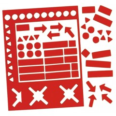 Legamaster 7-448202 Magnetic Symbols - 20 mm, Red