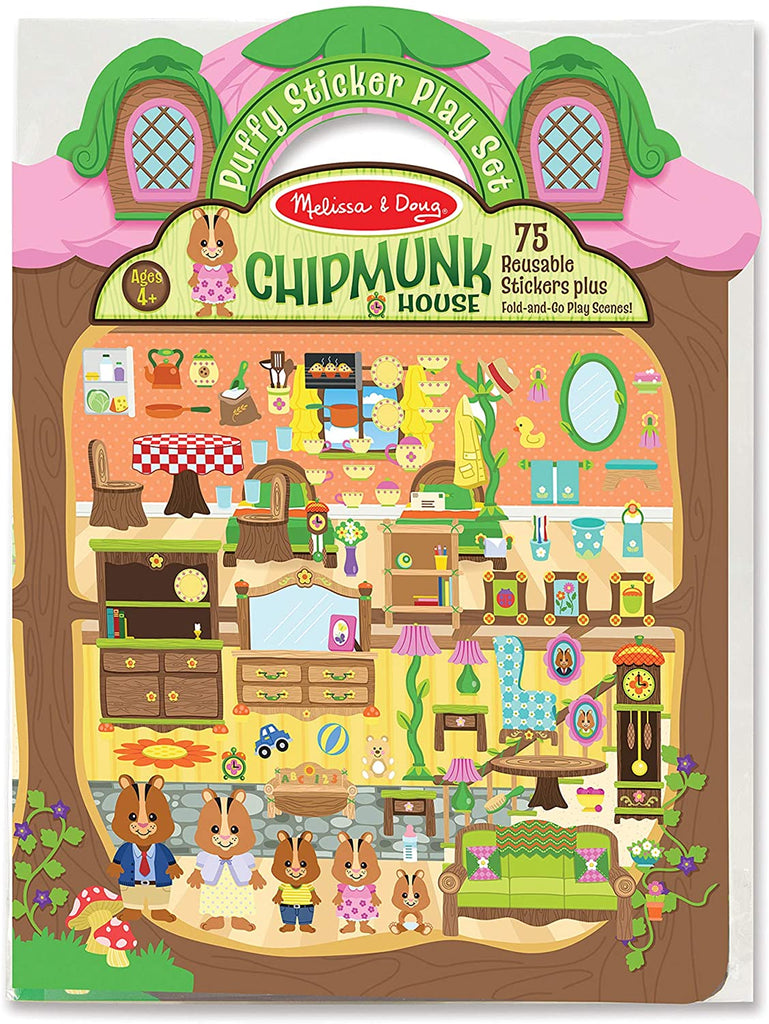 Melissa and Doug Puffy Stickers - Chipmunk House