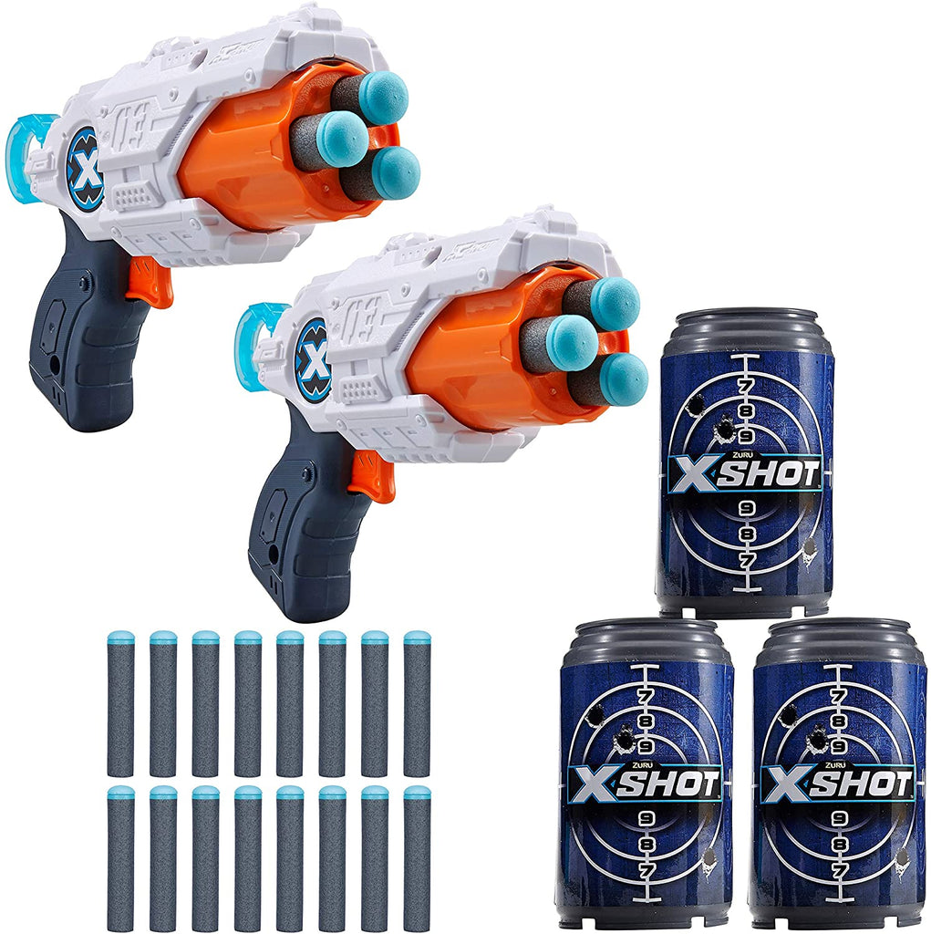 X-Shot- MK 3 Double Pack (2 Shooters, 3Cans, 16 Darts)