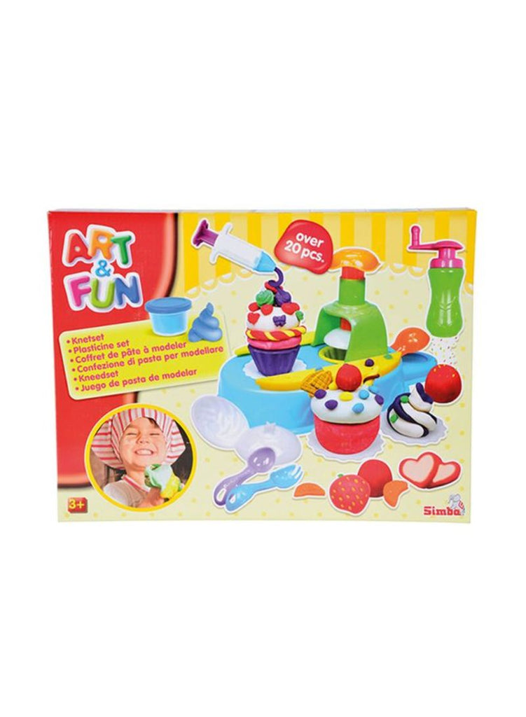 Art And Fun Plastic Dough Cupcake