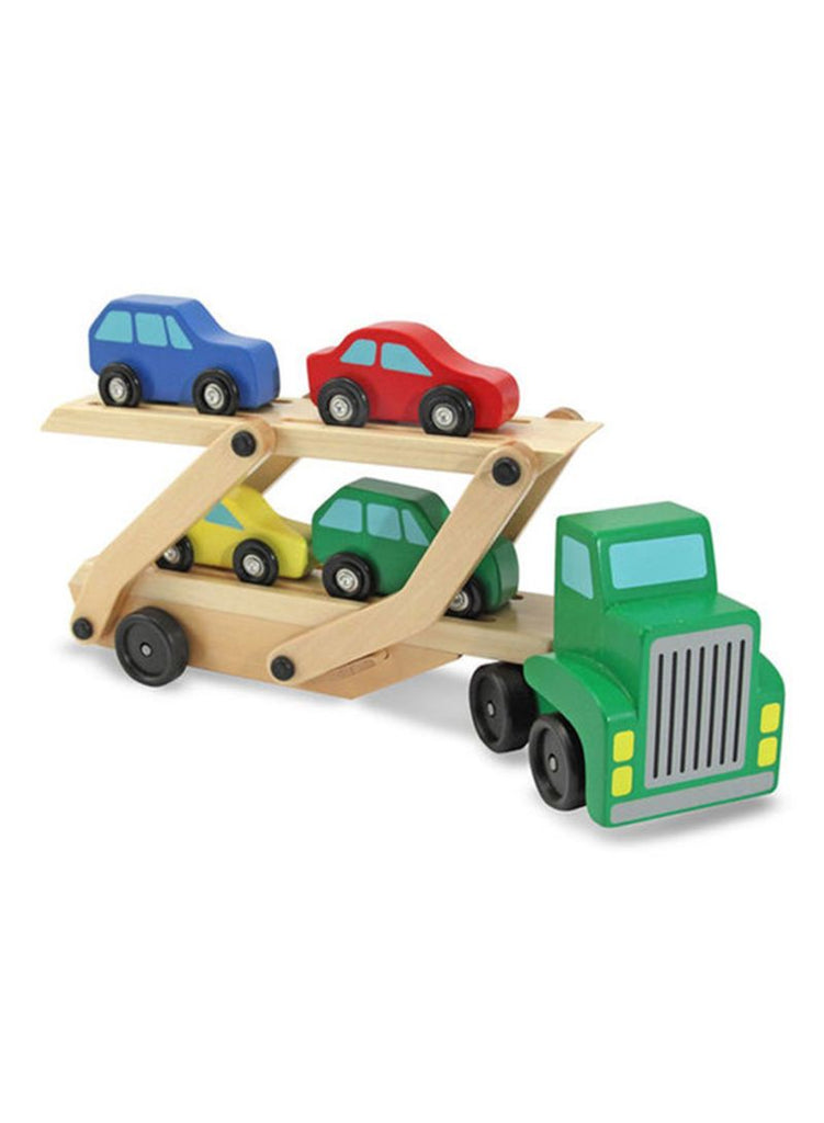 5-Piece Car Carrier Truck And Car Wooden Toy Set