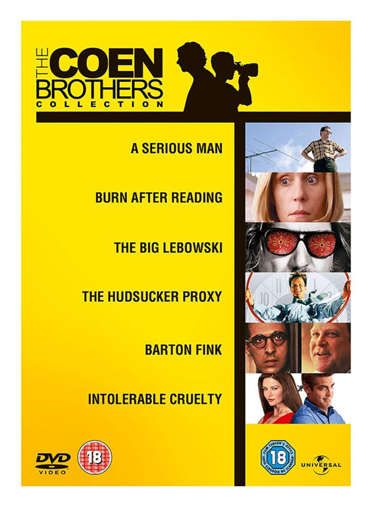 The Coen Brothers Collection - A Serious Man/ Burn After Reading/ The Big Lebowski/ The Hudsucker Proxy/ Barton Fink/ Intolerable Cruelty DVD