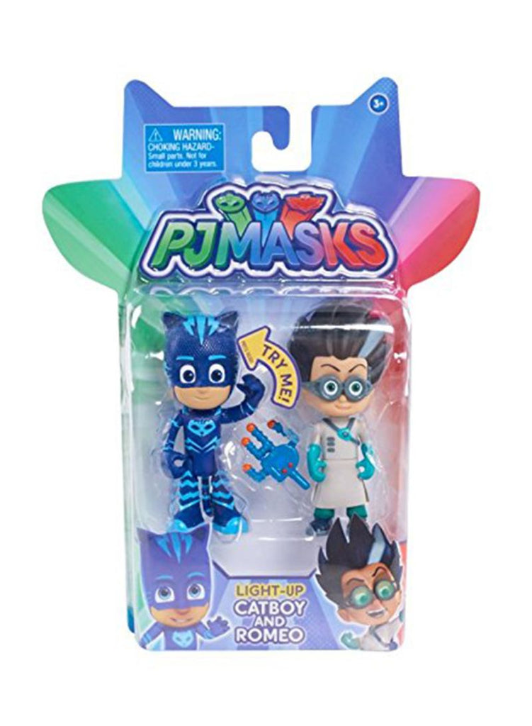 2-Piece PJ Masks Light Up Figures Catboy Vs Romeo