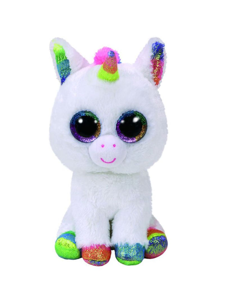 Beanie Boos Unicorn Pixy White Med 10In