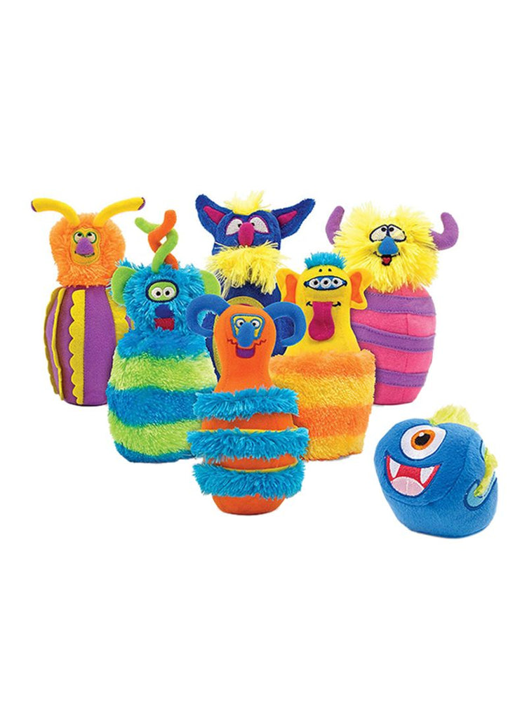 8-Piece Fuzzy Wacky Monster-Themed Bowling Set