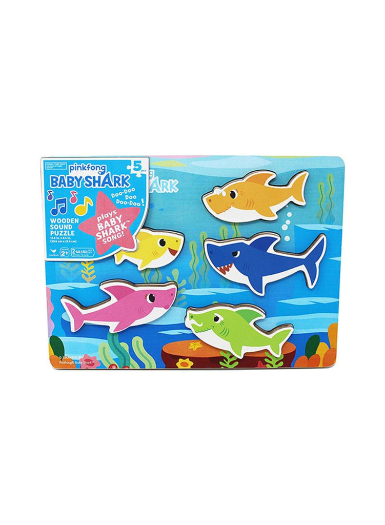 Baby Shark Chunky Wood Sound CDU Puzzle