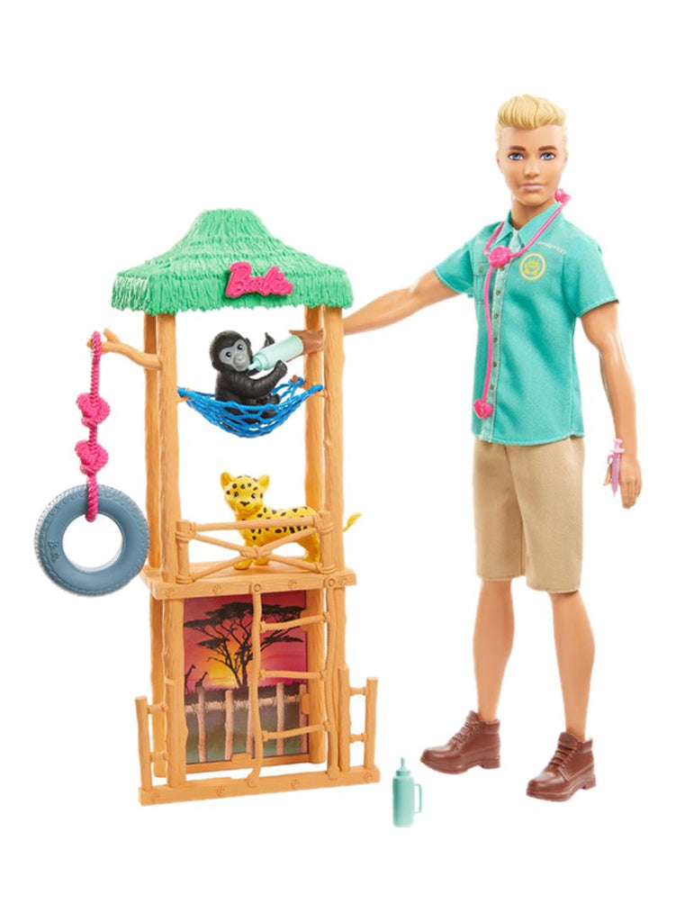 Ken Wildlife Vet Playset With Doll And Accessories