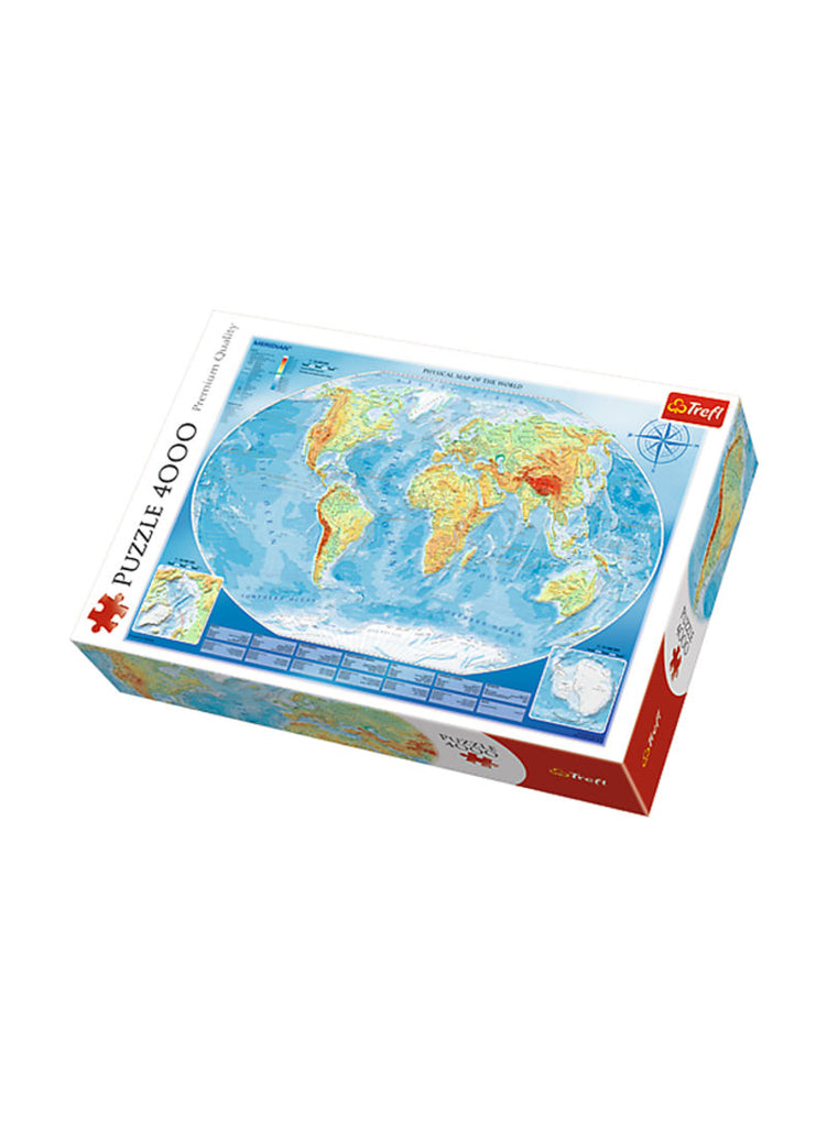 1000-Piece Map Of The World Jigsaw Puzzle Set