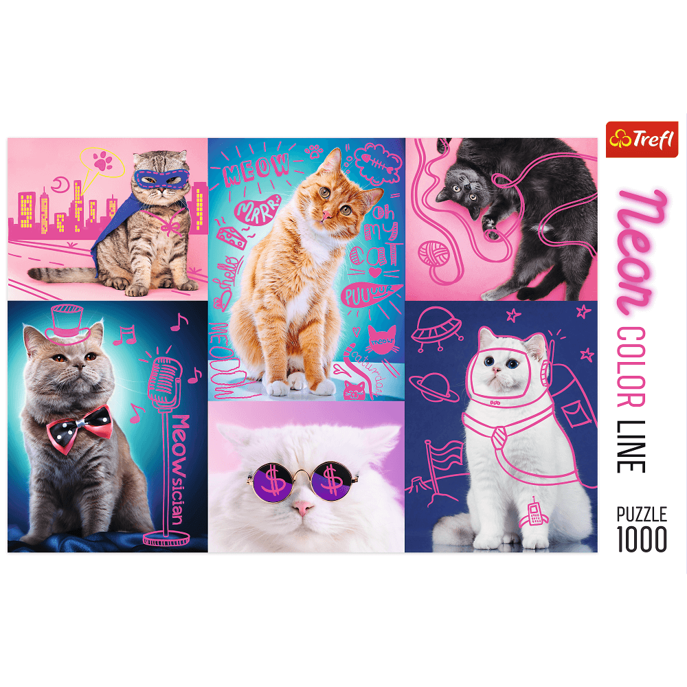 TREFL: Super Cat 1000 Pieces Neon Colour Line