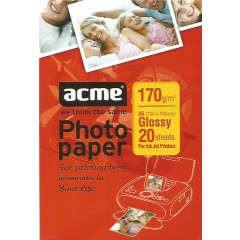 Acme Glossy Photo Paper - A6, 170gsm, 20 Sheets