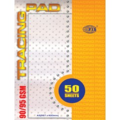 FIS FSTS90/95A3 Tracing Pad - A3, 297 x 420 mm, 50 Sheets, 95 gsm